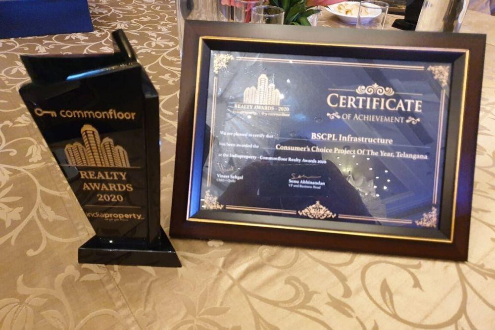 Consumer's Choice Award By India Property Common Floor